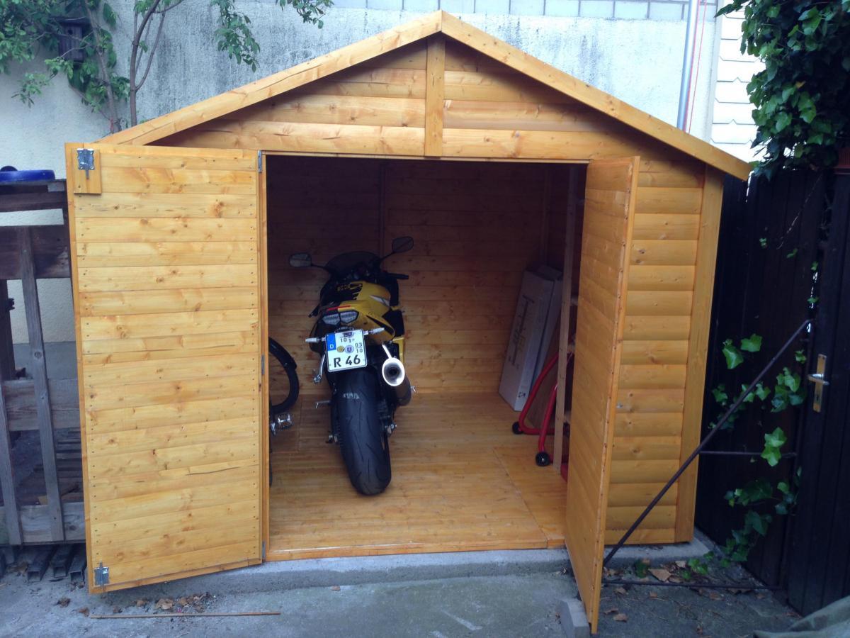 motorradgarage selber bauen